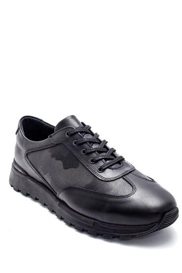 Siyah Erkek Deri Sneaker 5638197219