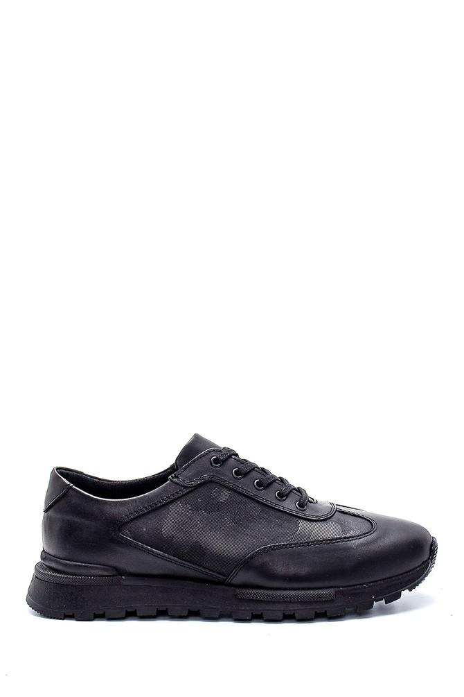 Siyah Erkek Deri Sneaker 5638197229