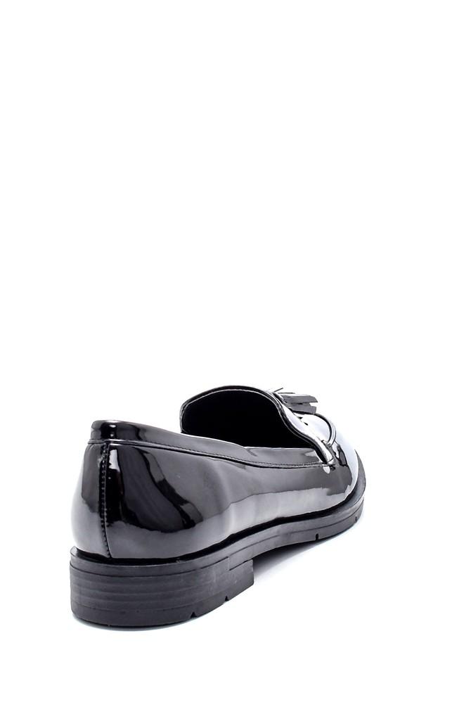 5638199334 Kadın Rugan Püskül Detaylı Loafer