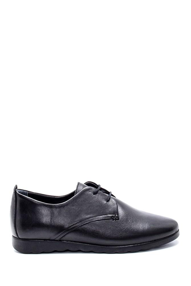 Siyah Kadın Deri Ayakkabı 5638202607