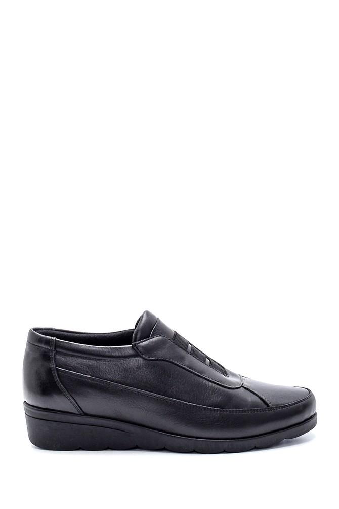 Siyah Kadın Deri Ayakkabı 5638202618