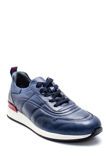 Lacivert Erkek Deri Sneaker 5638210829