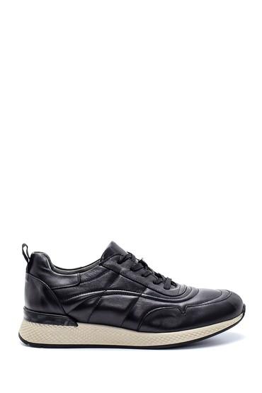 Siyah Erkek Deri Sneaker 5638210831