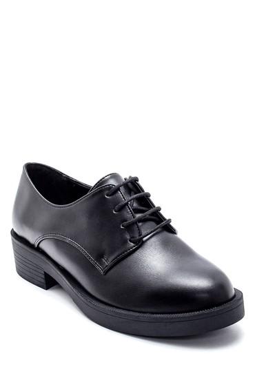 Siyah Kadın Maskülen Ayakkabı 5638208960