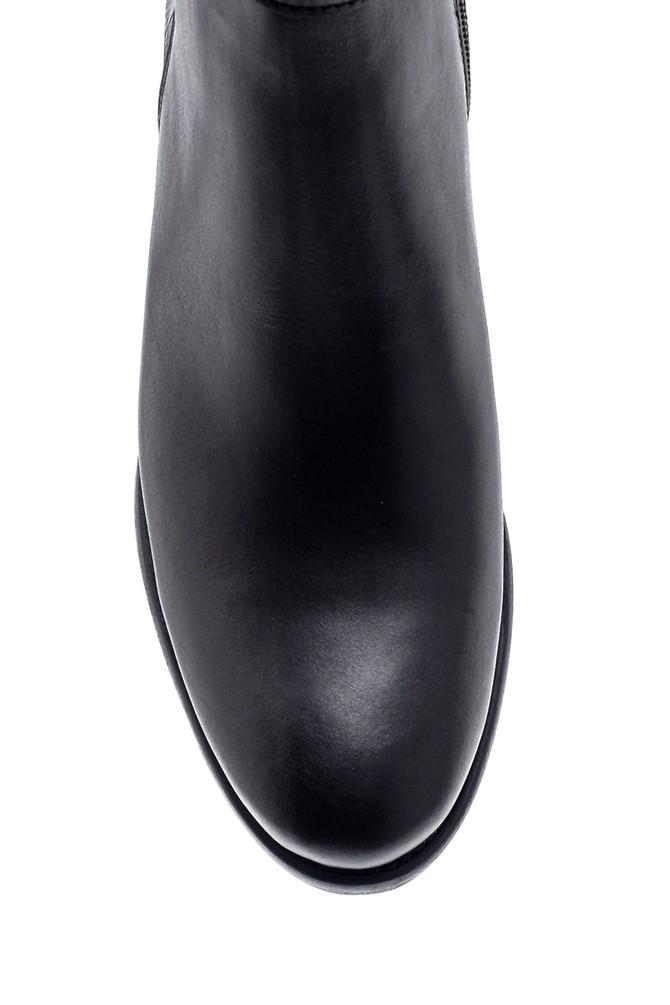 5638212773 Kadın Deri Topuklu Bot