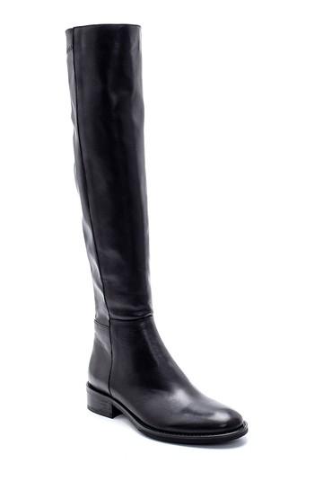 Siyah Kadın Deri Çizme 5638213004