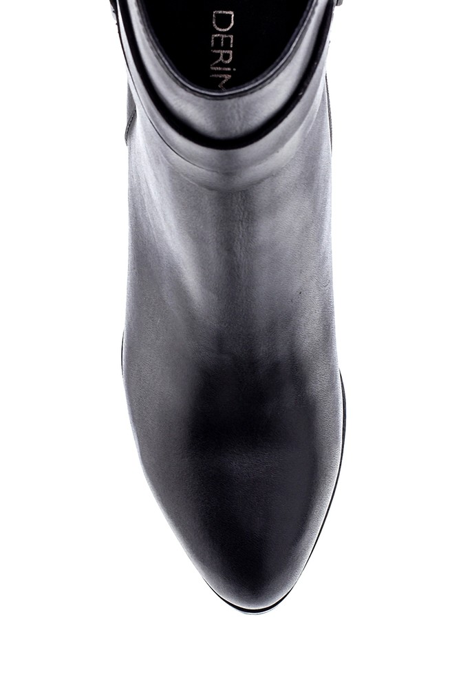 5638213536 Kadın Deri Topuklu Bot