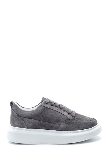Gri Kadın Süet Sneaker 5638234497