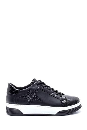 Siyah Kadın Yıldız Detaylı Sneaker 5638234703