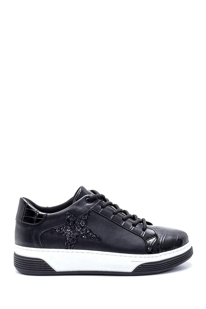 Siyah Kadın Yıldız Detaylı Sneaker 5638234718