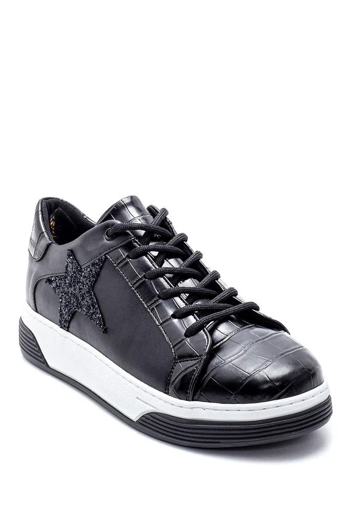 5638234718 Kadın Yıldız Detaylı Sneaker