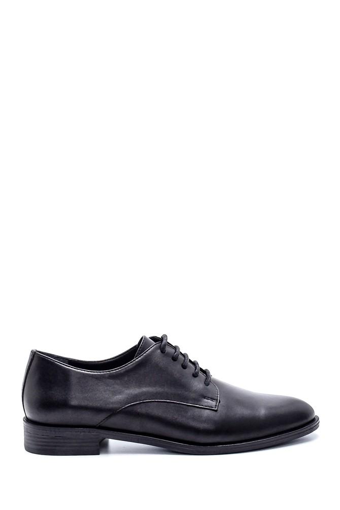 Siyah Kadın Deri Klasik Ayakkabı 5638234804