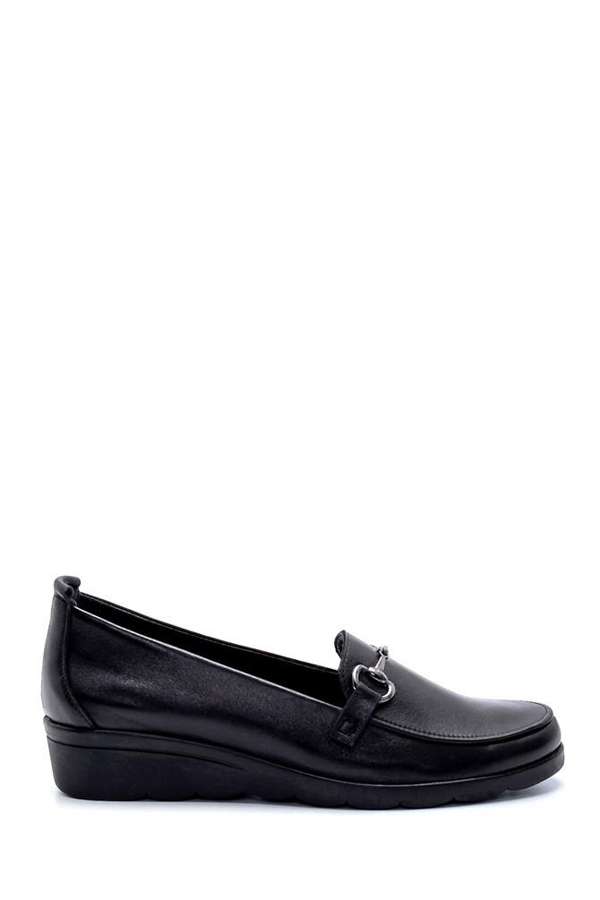 Siyah Kadın Deri Ayakkabı 5638202634