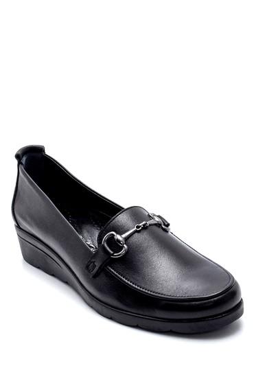 Siyah Kadın Deri Ayakkabı 5638202629