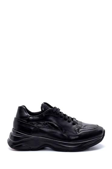 Siyah Erkek Deri Sneaker 5638208068