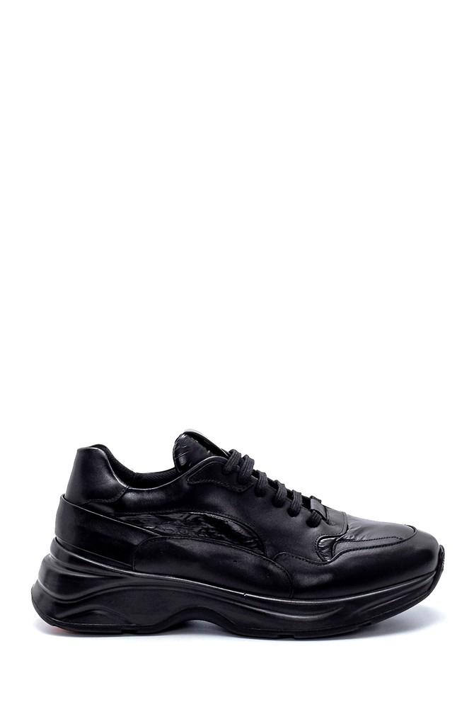 Siyah Erkek Deri Sneaker 5638208074