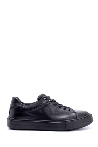 Siyah Erkek Deri Sneaker 5638214983