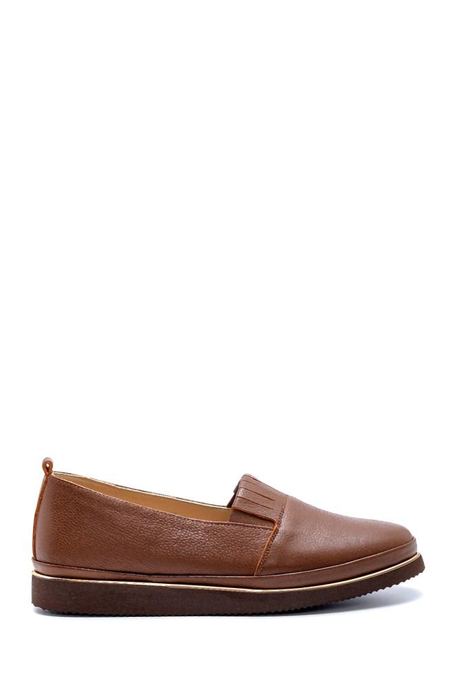 Kahverengi Kadın Deri Ayakkabı 5638212083