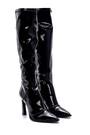 5638213866 Kadın Deri Rugan Topuklu Çizme