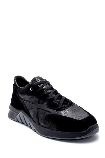 Siyah Erkek Süet Deri Sneaker 5638226355