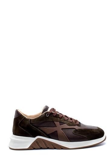 Yeşil Erkek Süet Deri Sneaker 5638226356