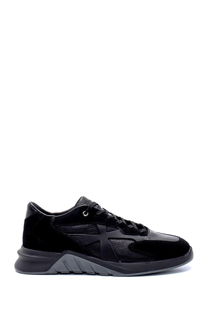 Siyah Erkek Süet Deri Sneaker 5638226374