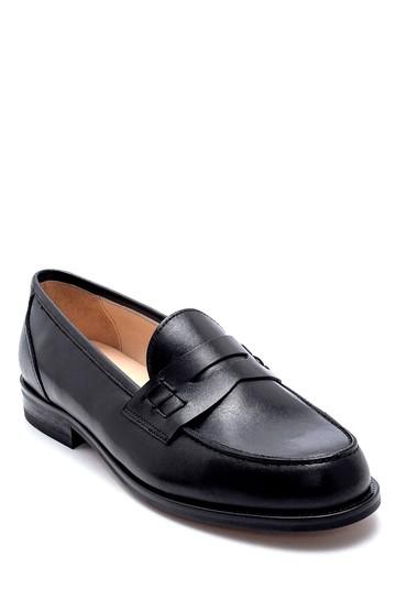 Siyah Kadın Deri Loafer 5638232465