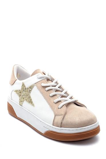 Beyaz Kadın Yıldız Detaylı Sneaker 5638234704