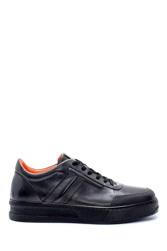 Gri Erkek Deri Sneaker 5638236903