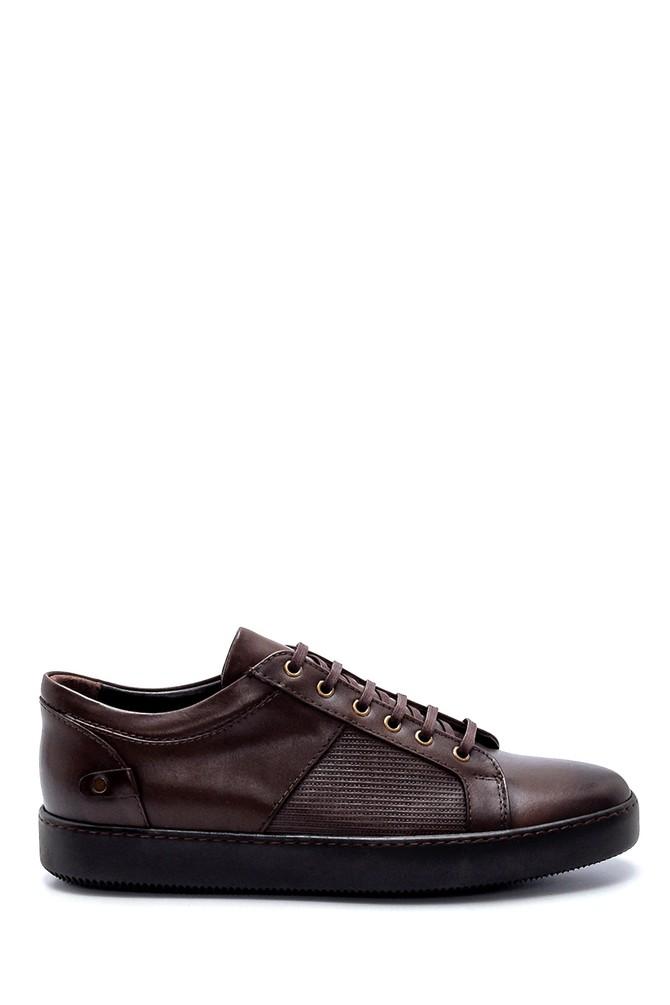 Kahverengi Erkek Deri Sneaker 5638218619
