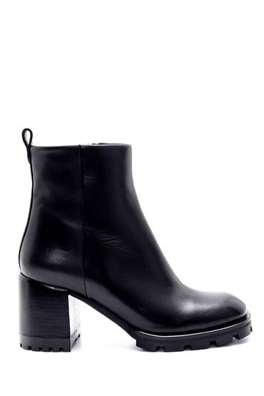 Siyah Kadın Deri Topuklu Bot 5638206095