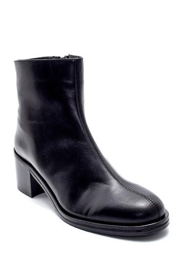 Siyah Kadın Deri Topuklu Bot 5638213475