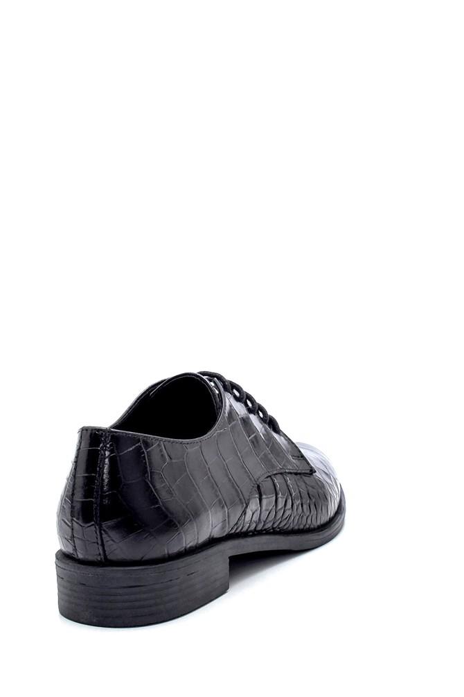 5638234792 Kadın Deri Kroko Desenli Ayakkabı