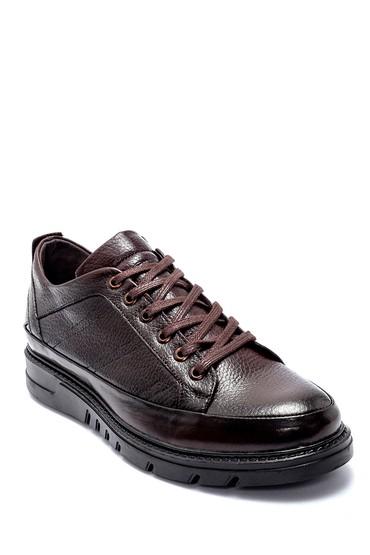 Kahverengi Erkek Deri Sneaker 5638207713