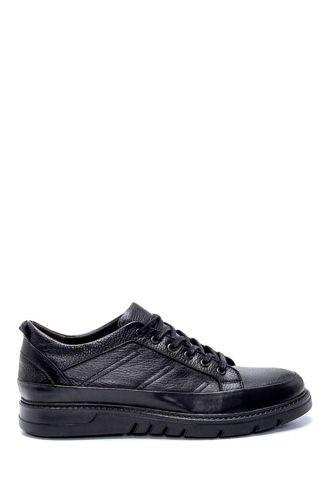 Siyah Erkek Deri Sneaker 5638207711