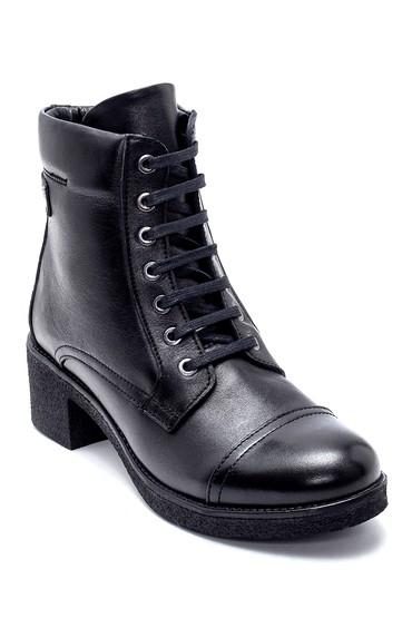 Siyah Kadın Deri Topuklu Bot 5638202721