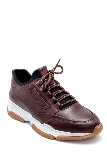 Kahverengi Erkek Deri Sneaker 5638203757