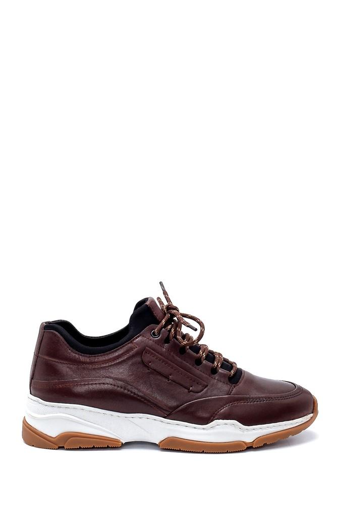 Kahverengi Erkek Deri Sneaker 5638203777