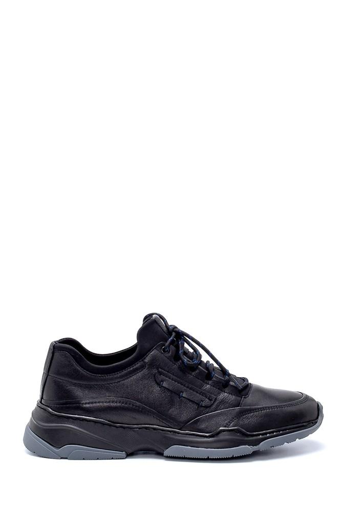Siyah Erkek Deri Sneaker 5638203759