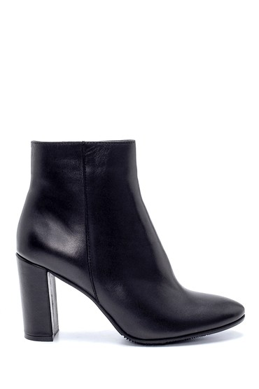 Siyah Kadın Deri Topuklu Bot 5638212988