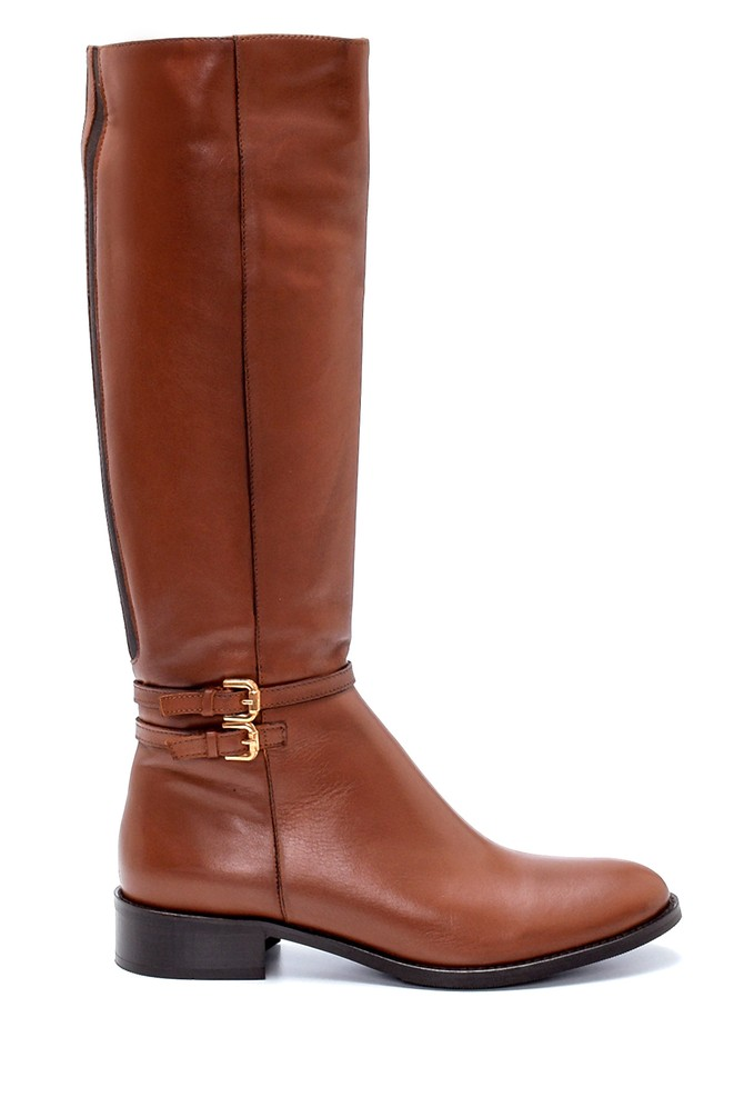 Kahverengi Kadın Deri Çizme 5638213023