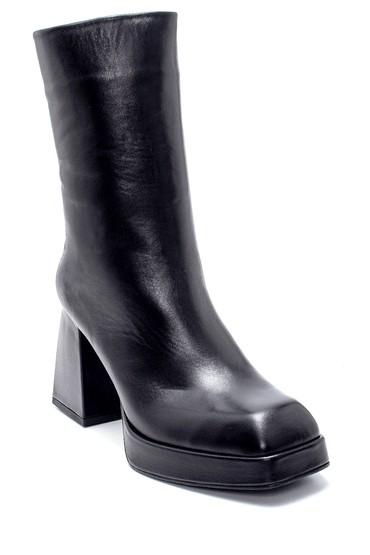 Siyah Kadın Deri Topuklu Bot 5638234517