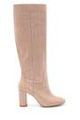 5638234548 Kadın Deri Kroko Desenli Topuklu Çizme