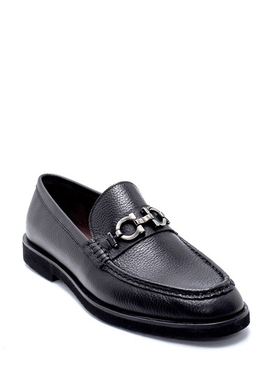 Siyah Erkek Deri Loafer 5638213658