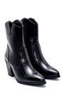 5638209116 Kadın Kroko Desenli Topuklu Kovboy Bot