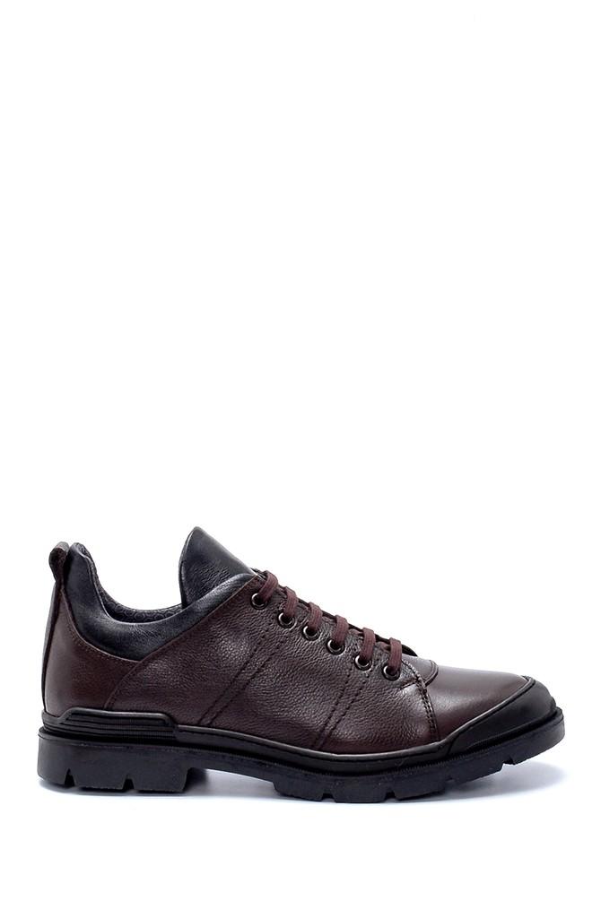 Kahverengi Erkek Deri Sneaker 5638230636