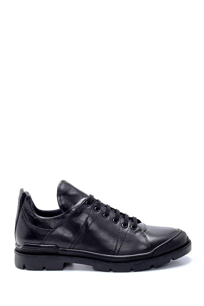 Siyah Erkek Deri Sneaker 5638230634