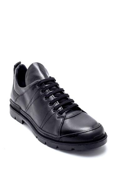Siyah Erkek Deri Sneaker 5638230615