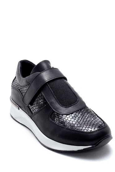 Siyah Kadın Yılan Derisi Desenli Ayakkabı 5638232481
