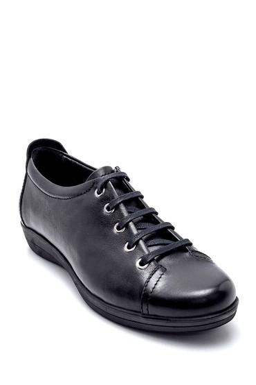 Siyah Kadın Deri Ayakkabı 5638232494